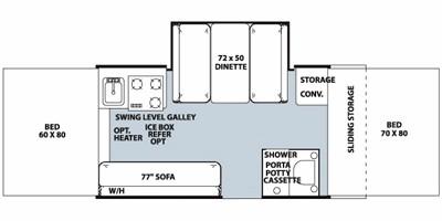 View Floor Plan for 2012 FOREST RIVER ROCKWOOD PREMIER 2516G