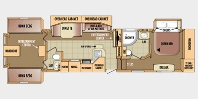 View Floor Plan for 2010 JAYCO EAGLE 365BHS