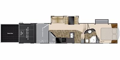 View Floor Plan for 2011 HEARTLAND CYCLONE 3612
