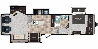 View Floor Plan for 2013 KEYSTONE MONTANA HIGH COUNTRY 343RL