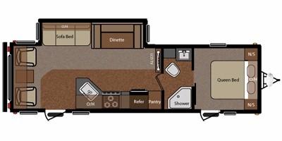 View Floor Plan for 2011 KEYSTONE SPRINGDALE 292RLSSR