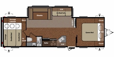 View Floor Plan for 2011 KEYSTONE SPRINGDALE 296BH-SSR