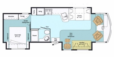 View Floor Plan for 2013 ITASCA SUNOVA 33C