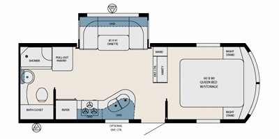 View Floor Plan for 2013 FOREST RIVER AVIATOR ELECTRA