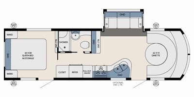 View Floor Plan for 2013 FOREST RIVER AVIATOR WRIGHT FLYER