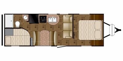 View Floor Plan for 2013 HEARTLAND PROWLER 26PBH