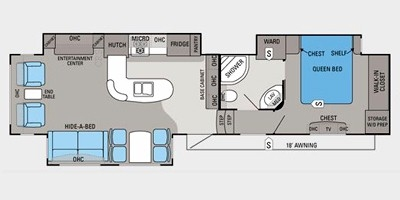 View Floor Plan for 2012 JAYCO EAGLE 351MKTS