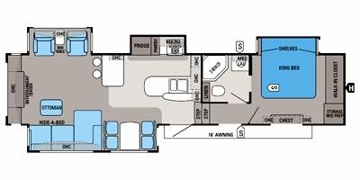 View Floor Plan for 2012 JAYCO PINNACLE 36REQS