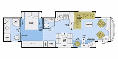 View Floor Plan for 2012 ITASCA MERIDIAN 42E