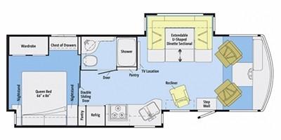 View Floor Plan for 2014 WINNEBAGO SIGHTSEER 30A