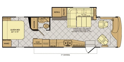 View Floor Plan for 2013 FLEETWOOD EXCURSION 33A