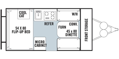 View Floor Plan for 2015 FOREST RIVER ROCKWOOD HARD SIDE A122S