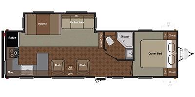 View Floor Plan for 2014 KEYSTONE SPRINGDALE 293RKGL