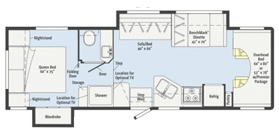 View Floor Plan for 2014 ITASCA IMPULSE SILVER 31WP