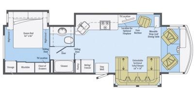 View Floor Plan for 2014 ITASCA SUNOVA 35G
