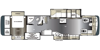 View Floor Plan for 2014 FOREST RIVER BERKSHIRE 400BH