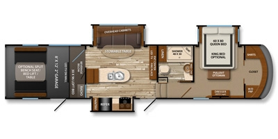 View Floor Plan for 2014 GRAND DESIGN MOMENTUM 355TH