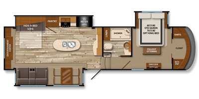 View Floor Plan for 2014 GRAND DESIGN SOLITUDE 305RE