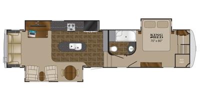 View Floor Plan for 2014 HEARTLAND LANDMARK KEY LARGO