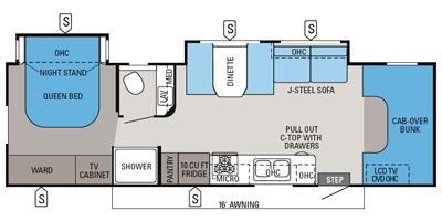 View Floor Plan for 2014 JAYCO GREYHAWK 29MV