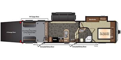 View Floor Plan for 2015 KEYSTONE IMPACT 311