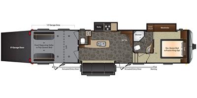 View Floor Plan for 2015 KEYSTONE IMPACT 386