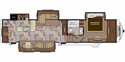 View Floor Plan for 2014 KEYSTONE MONTANA 3735MK