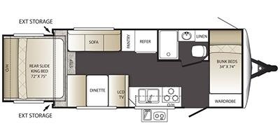 View Floor Plan for 2015 KEYSTONE OUTBACK TERRAIN 210TRS