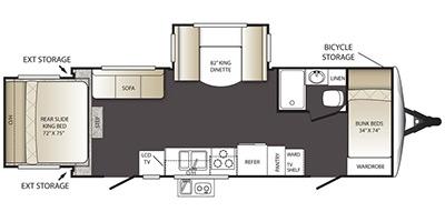 View Floor Plan for 2015 KEYSTONE OUTBACK TERRAIN 250TRS