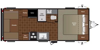 View Floor Plan for 2015 KEYSTONE SUMMERLAND 2020QB