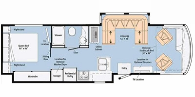 View Floor Plan for 2014 ITASCA SOLEI 34T