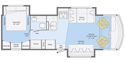 View Floor Plan for 2015 ITASCA SUNSTAR 30T