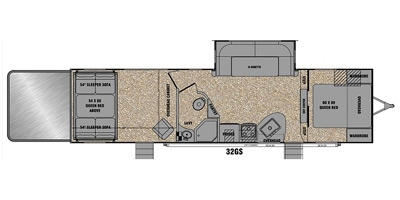 View Floor Plan for 2015 EVERGREEN AMPED 32GS