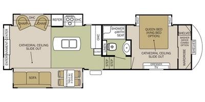 View Floor Plan for 2015 FOREST RIVER CEDAR CREEK SILVERBACK 29IK