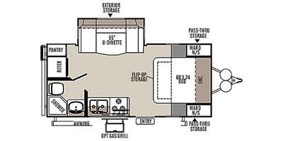 View Floor Plan for 2015 FOREST RIVER ROCKWOOD MINI LITE 2104S