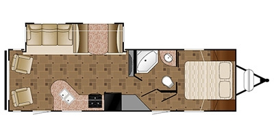 View Floor Plan for 2015 HEARTLAND PROWLER 28PRLS