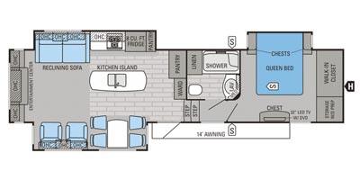 View Floor Plan for 2015 JAYCO EAGLE PREMIER 331RETS