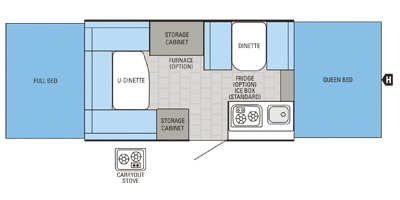 View Floor Plan for 2015 JAYCO JAY SERIES SPORT 12UD