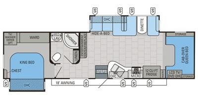 View Floor Plan for 2015 JAYCO SENECA 36FK
