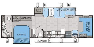 View Floor Plan for 2015 JAYCO SENECA 37RB