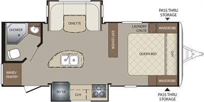 View Floor Plan for 2016 KEYSTONE BULLET 220RBI