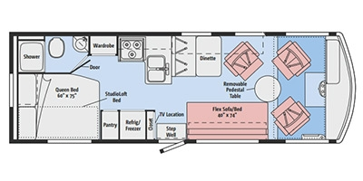 View Floor Plan for 2015 ITASCA TRIBUTE 26A
