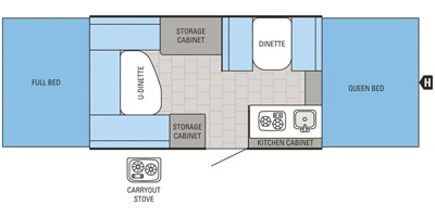 View Floor Plan for 2016 JAYCO JAY SERIES SPORT 12UD