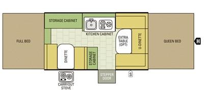 View Floor Plan for 2016 STARCRAFT COMET 1222