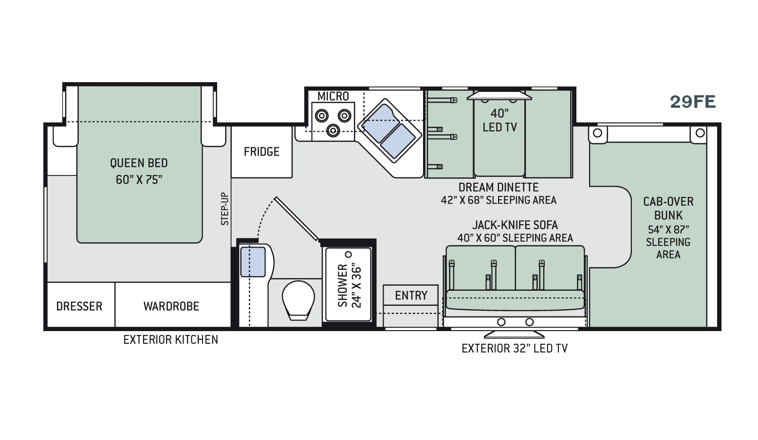 New 2016 thor freedom elite 29fe class c for sale 1268932 for Floor plans for motorhomes
