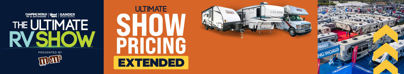 Ultimate RV Show is back! Unlock Prices