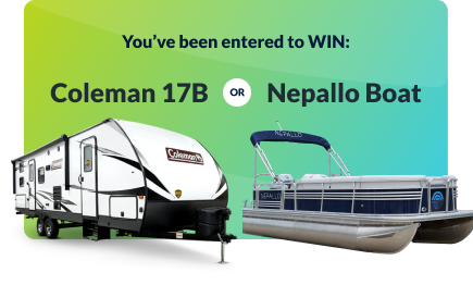 You've been entered to win a Coleman 17B