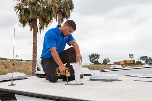 routine maintenance on rv roof